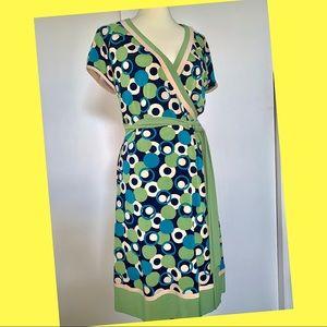 Sandra Darren Faux Wrap Dress